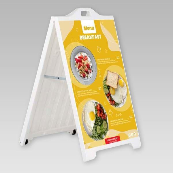 Τα A-Board PVC είναι σταντ διπλής όψης από υψηλής αντοχής πλαστικό. Χρησιμοποιούνται τόσο σε εσωτερικό όσο και σε εξωτερικό χώρο.