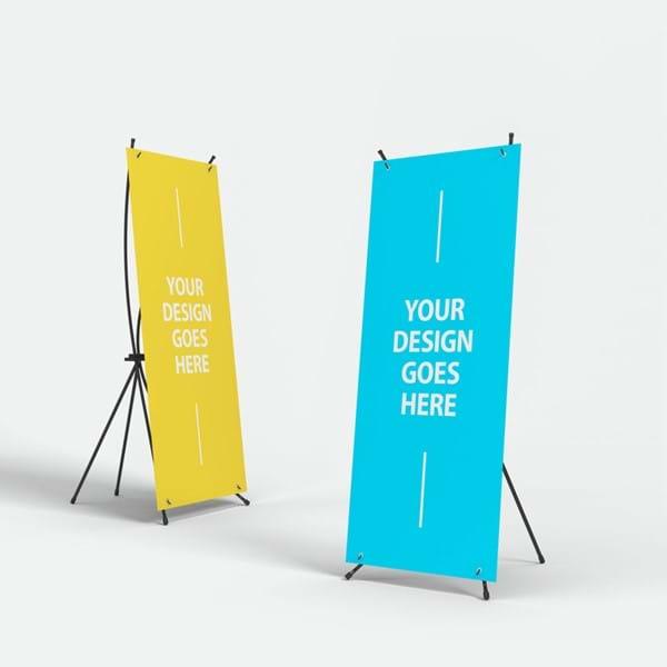 X Banners. Εύχρηστα και οικονομικά συστήμα προώθησης, που μεταφέρονται εύκολα.