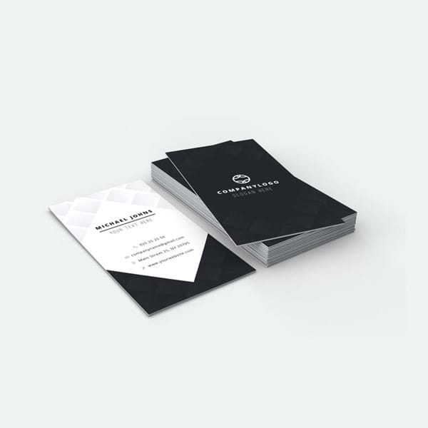 Business cards, single or double sided. With or without lamination.