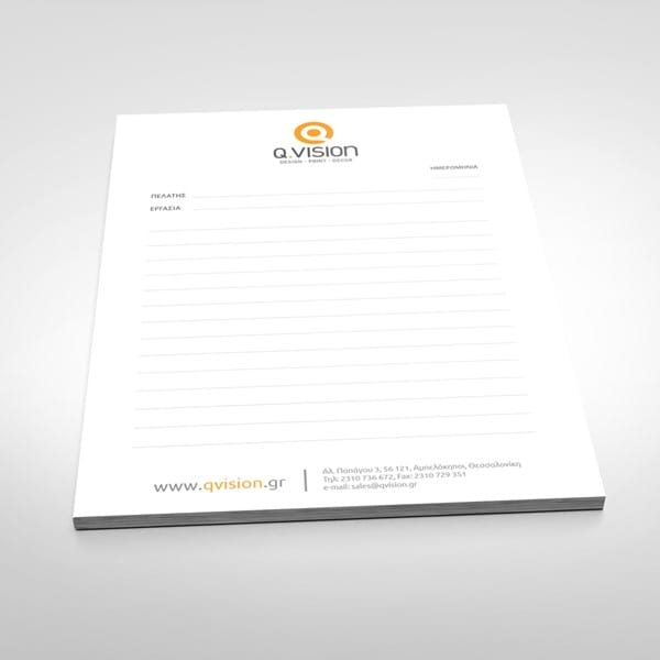 A5, A4 Glued Notepads are good foranyuse. Take your notes, write recipes, promote your company.