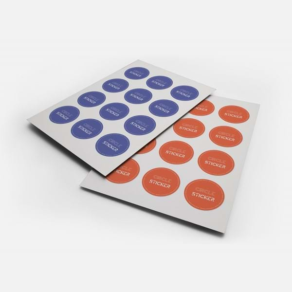 Oval or Round stickers for packaging and various applications